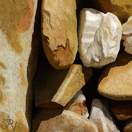 Backyard Rocks, Maryborough #1 Detail