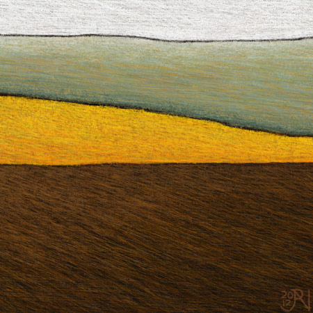 Burnt Field with Distant Canola - Detail