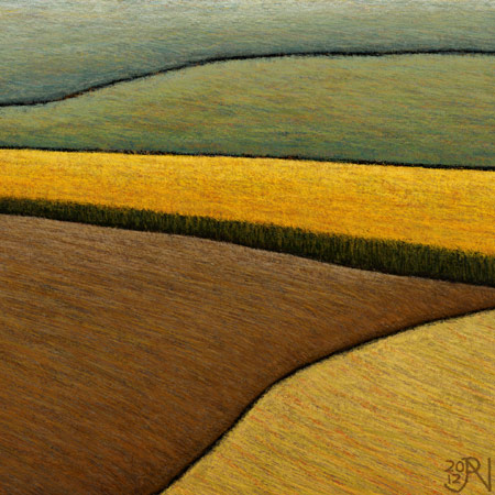Distant Canola Crop - Detail