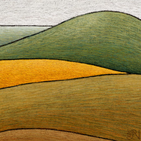 Distant Canola Crop near Smeaton #1 - Detail