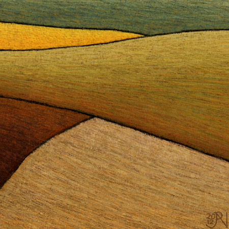 Distant Canola Crop near Smeaton #2 - Detail