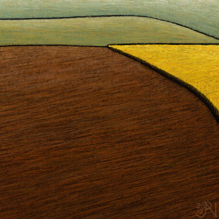 Stubble Burn Off - Distant Canola - Detail