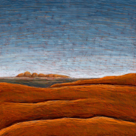 The Olgas from Uluru No 2